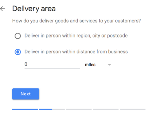 delivery area
